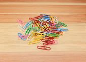 Pile Of Coloured Paper Clips