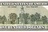 Back Details Of Hundred Dollar Bill