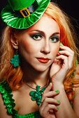 Girl wearing leprechaun