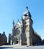 Saint-leonard Church, Fougeres, France.