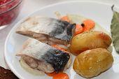 Marinated Mackerel And The Baked Potato