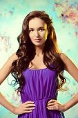 Portrait of young woman with beautiful long hair. Beauty, fashion. Hair, haircare.