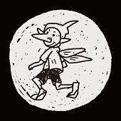 picture of elf  - Elf Doodle - JPG