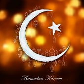 pic of eid ka chand mubarak  - illustration of Ramadan Kareem  - JPG