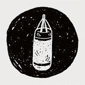 stock photo of sandbag  - Sandbag Doodle - JPG