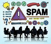 pic of malware  - Spam Problem Virus Online Malware Hacking Concept - JPG
