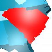 pic of usa map  - South Carolina map on blue USA map image with hi - JPG