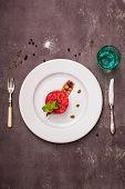 pic of tartar  - salmon tartar with beet - JPG