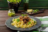 foto of celery  - Fettuccine with Bolognese sauce  - JPG