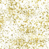 stock photo of white gold  - White and gold freehand pattern - JPG