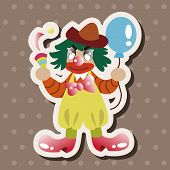 picture of circus clown  - Circus Clown Theme Element - JPG