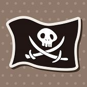 foto of pirate flag  - Pirate Flags Theme Elements - JPG