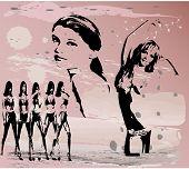 sexy women silhouettes