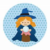 pic of witch  - Witch Cartoon Theme Elements - JPG