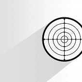 stock photo of crosshair  - crosshair with drop shadow on white background - JPG