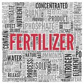 pic of fertilizer  - Close up FERTILIZER Text at the Center of Word Tag Cloud on White Background - JPG