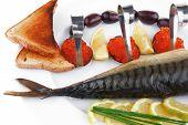foto of plate fish food  - diet food  - JPG