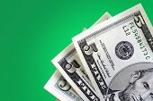 Money On Green Background