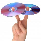 Two CD on fingers