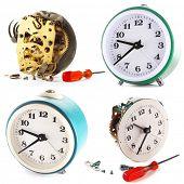 Clocks. Outside and inside
