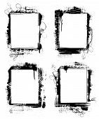 picture of smut  - set of grunge frames or borders on white background - JPG