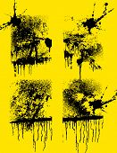 image of smut  - set of grunge creative textures with blots and stains - JPG