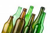 leere Farbe Flaschen