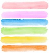 Abstract watercolor hand painted banners
