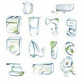 vector set of home appliances icons
