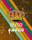 Постер, плакат: ретро дискотека плакат 5