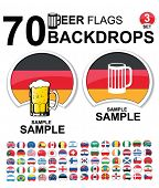 set of design elements - beer backdrops