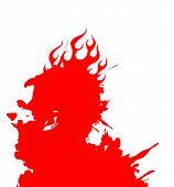 a gritaria homem em chamas