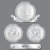 vector awards set - silver