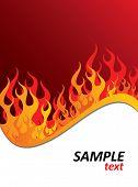 Постер, плакат: Огонь Пламя фон