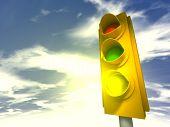 Traffic Lights Yellow