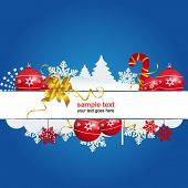 foto of christmas party  - blue holiday christmas sign - JPG