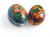 Dois Páscoa pintado ovo