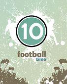 Grunge Fußball-poster