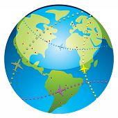 airplane flight paths