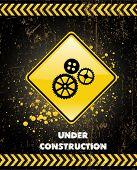 em cartaz de construção