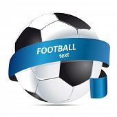football with a ribbon