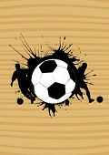 football sign on the wooden background