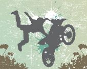 rider vector background - motorcross poster