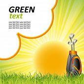 cartaz do golfe