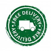 delivery sign - vector stamp