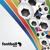 football poster with soccer balls