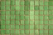 Small Green Tiles Background poster