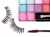 Cosmetics Set - Eyeshadows, Eyelashes, Mascara