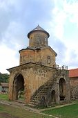 Little Church At Old Orthodox Monastery Gelati Near Kutaisi - Georgia. Unesco Place