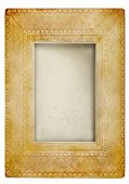 Vintage photo frame against white background